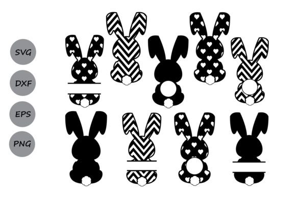 Download Free Easter Bunny Set Graphic By Cosmosfineart Creative Fabrica SVG Cut Files