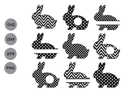 Download Free Easter Bunny Set1 Monogram Svg Graphic By Cosmosfineart for Cricut Explore, Silhouette and other cutting machines.