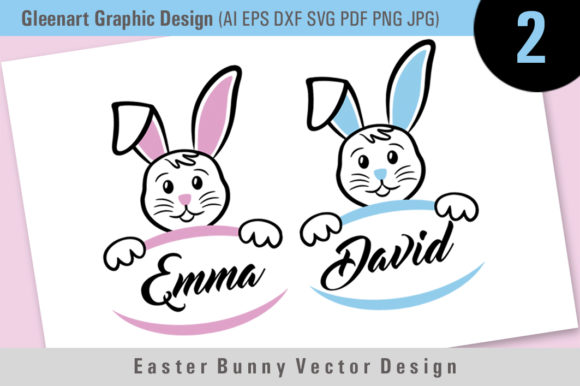 Download Free Easter Bunny Vector Grafico Por Gleenart Graphic Design for Cricut Explore, Silhouette and other cutting machines.