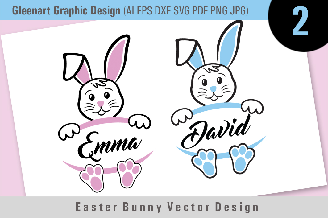 Download Free Easter Bunny Vector Graphic By Gleenart Graphic Design for Cricut Explore, Silhouette and other cutting machines.