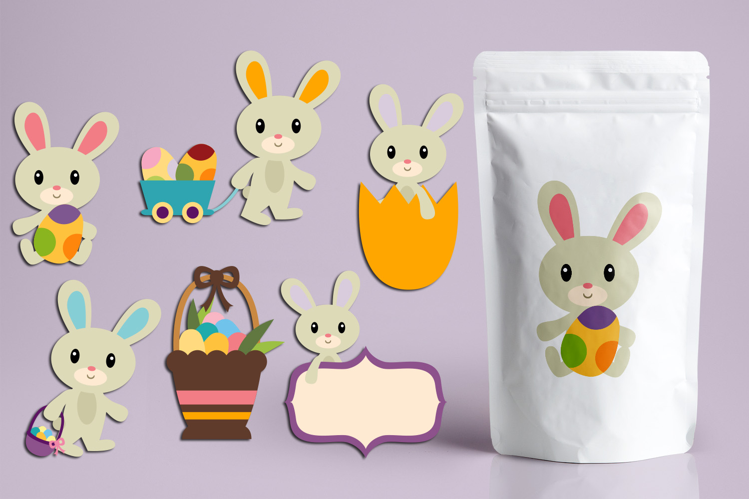 Download Free Easter Bunny Graphic By Revidevi Creative Fabrica for Cricut Explore, Silhouette and other cutting machines.