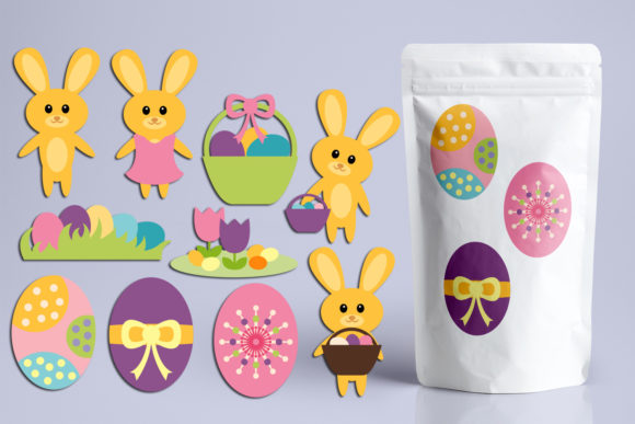 Print on Demand: Cute Easter Bunny Eggs Graphic Illustrations By Revidevi