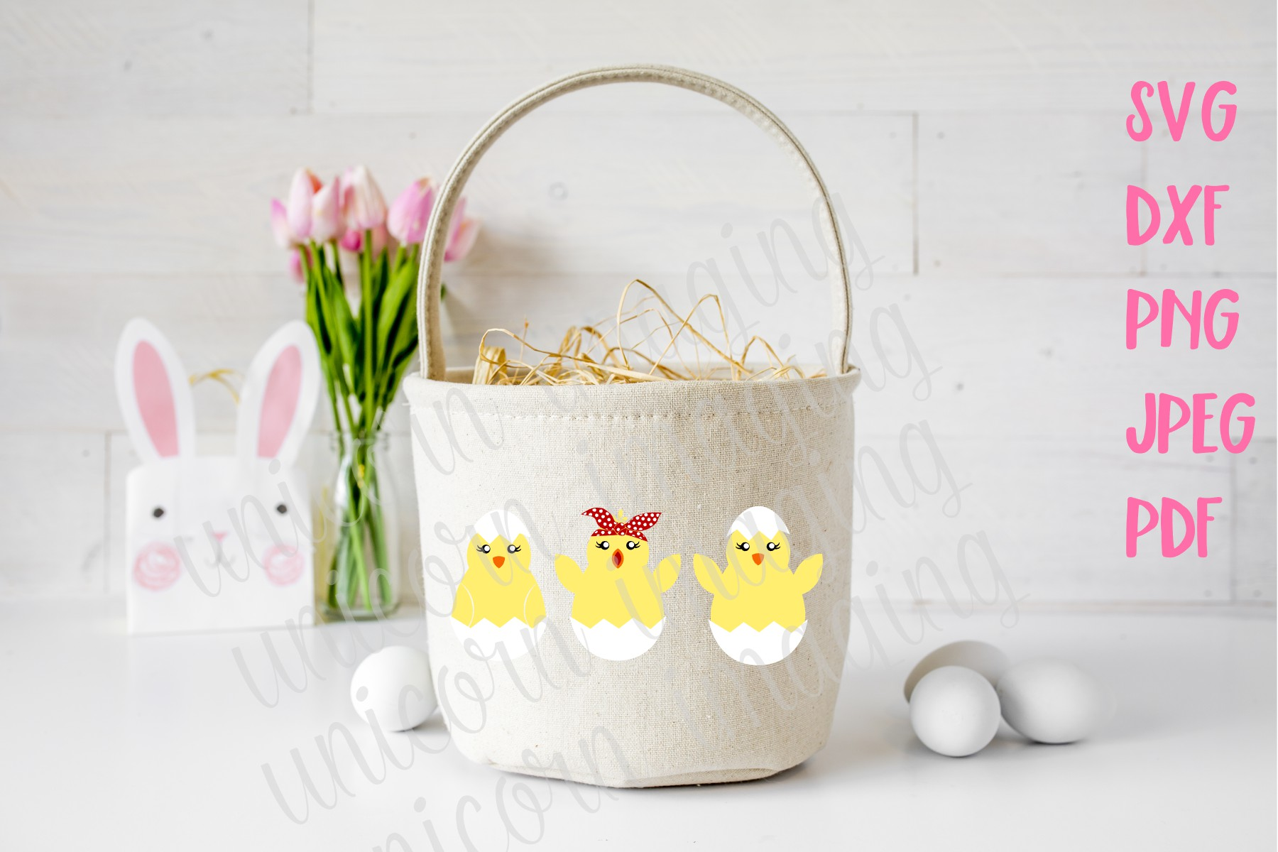 Download Free Easter Chicks In Eggs Graphic By Unicorn Imaging Creative Fabrica for Cricut Explore, Silhouette and other cutting machines.