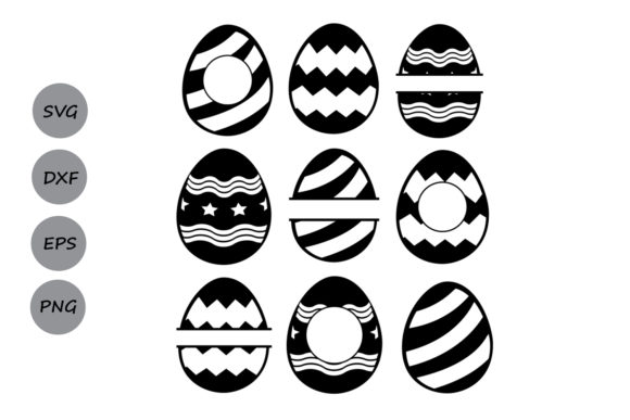 Download Free Easter Eggs Monogram Svg Graphic By Cosmosfineart Creative Fabrica for Cricut Explore, Silhouette and other cutting machines.