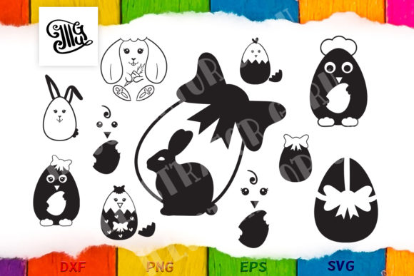 Download Free Easter Egg Bundle With Bunny Eggs And Chicks Graphic By SVG Cut Files