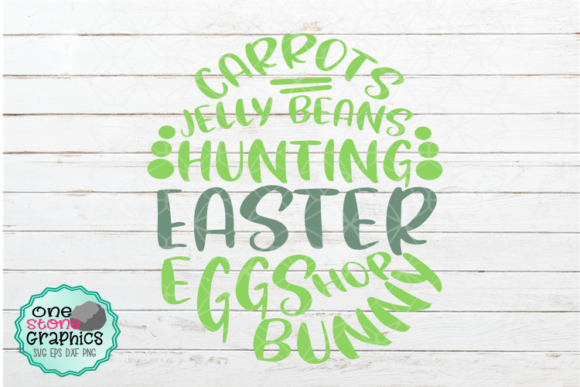 Easter Egg Svg Graphic Crafts By OneStoneGraphics