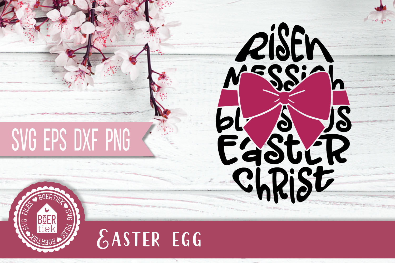 Download Free Easter Egg With Words Graphic By Boertiek Creative Fabrica for Cricut Explore, Silhouette and other cutting machines.