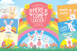 Easter Greeting Cards & Elements Graphic By luluimanda82