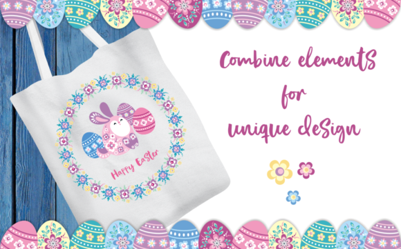 Print on Demand: Easter Patterns and Clip Arts Graphic Illustrations By Olga Belova - Image 3