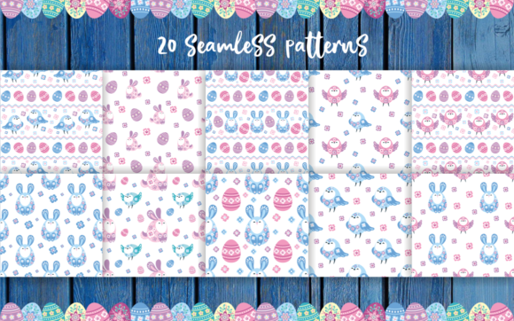 Easter Patterns and Clip Arts
