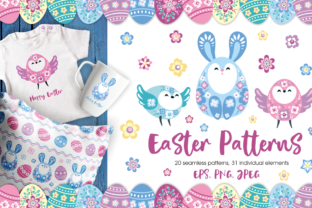Easter Patterns and Clip Arts Graphic By Olga Belova