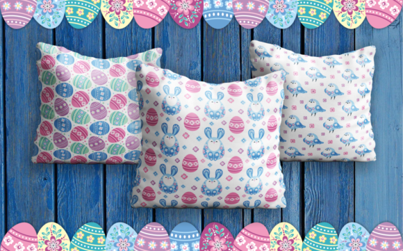 Print on Demand: Easter Patterns and Clip Arts Graphic Illustrations By Olga Belova - Image 5