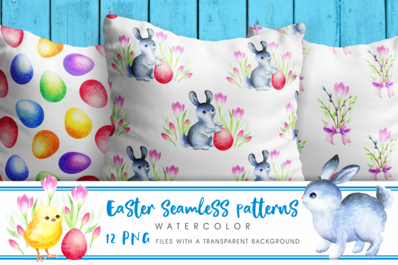 Print on Demand: Easter Seamless Patterns Graphic Patterns By Olga Belova