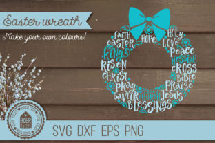 Download Free Easter Wreath With Words Graphic By Boertiek Creative Fabrica for Cricut Explore, Silhouette and other cutting machines.