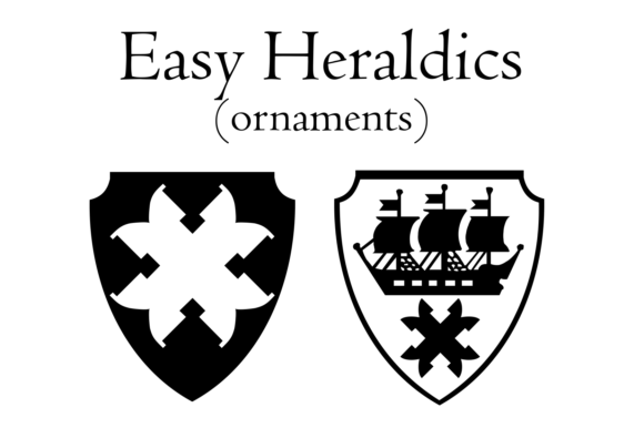 Print on Demand: Easy Heraldics Dingbats Font By Intellecta Design