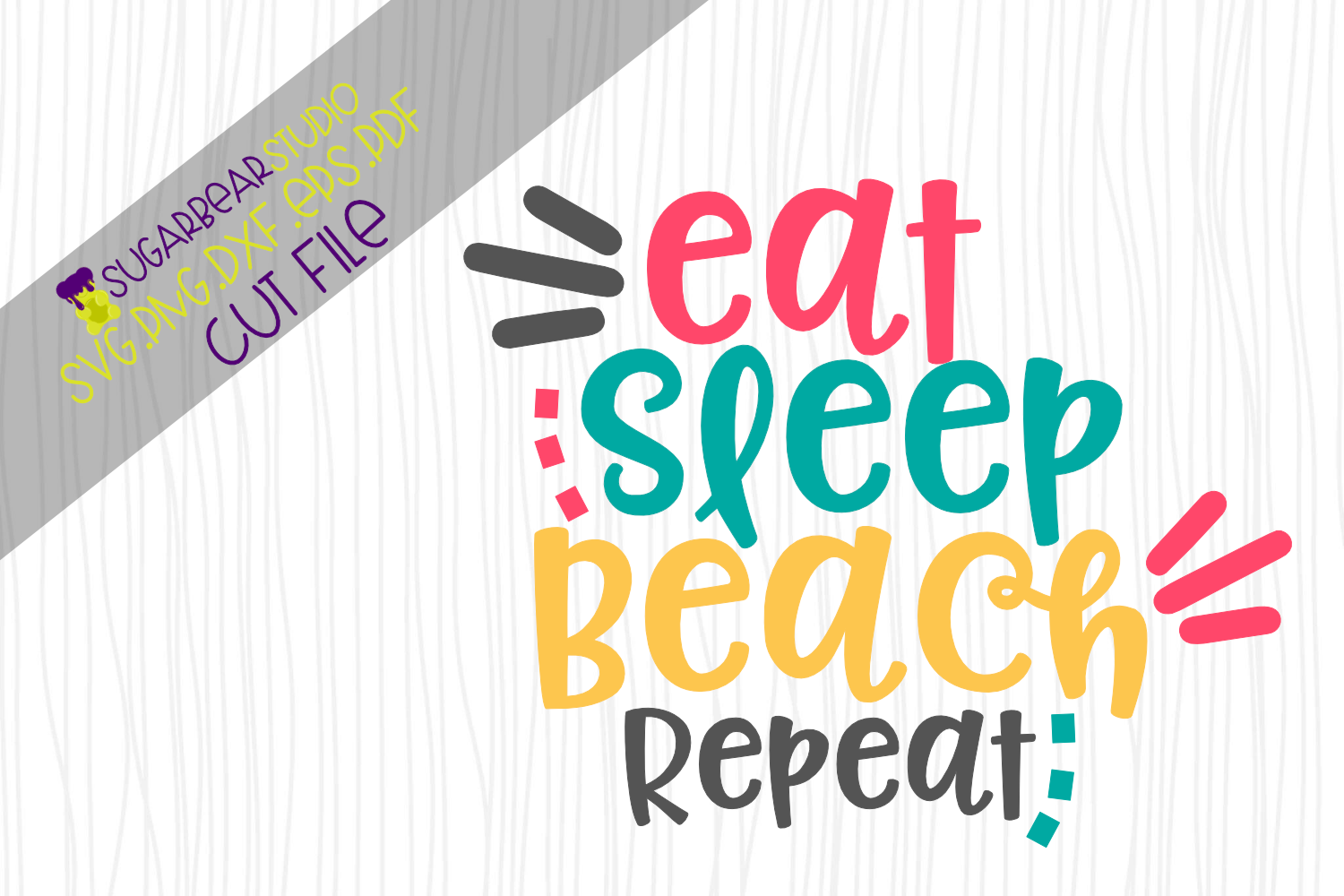 Download Free Eat Sleep Beach Repeat Svg Graphic By Sugarbearstudio Creative for Cricut Explore, Silhouette and other cutting machines.