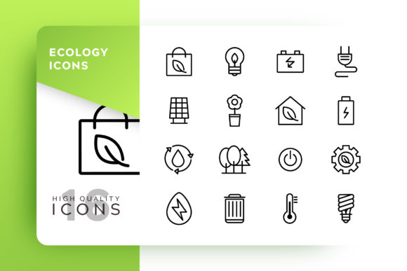 Print on Demand: Ecology Icon Pack Graphic Icons By Goodware.Std