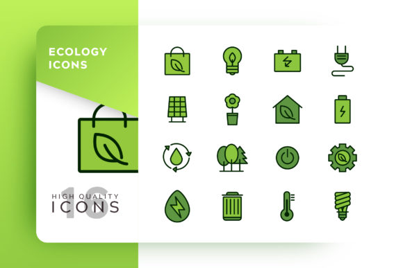 Ecology Icon Pack Graphic Icons By Goodware.Std - Image 1