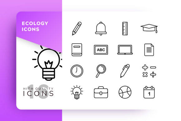 Education Icon Pack Graphic Icons By Goodware.Std