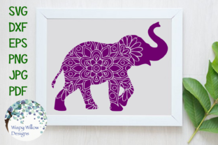 Download Free Elephant Mandala Graphic By Wispywillowdesigns Creative Fabrica for Cricut Explore, Silhouette and other cutting machines.
