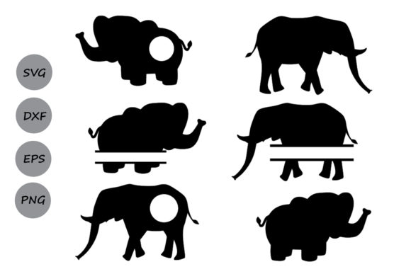 Download Free Elephant Monogram Svg Graphic By Cosmosfineart Creative Fabrica for Cricut Explore, Silhouette and other cutting machines.