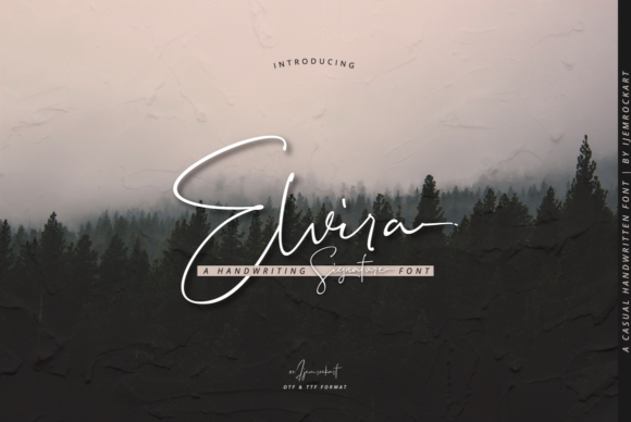 Print on Demand: Elvira Script & Handwritten Font By Ijem RockArt