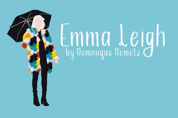 Print on Demand: Emma Leigh Script & Handwritten Font By Dominique Demetz - Image 1