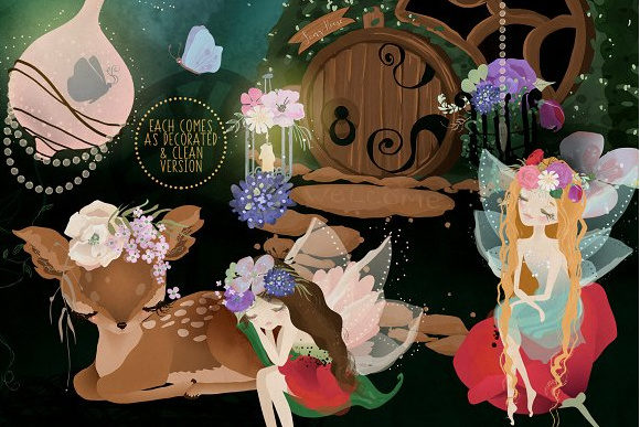 Enchanted Garden Graphic By Anna Babich Image 3