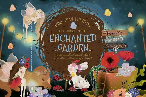 Print on Demand: Enchanted Garden Graphic Illustrations By Anna Babich