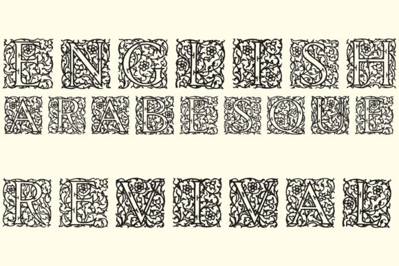 Print on Demand: English Arabesque Revival 1900 Display Font By Intellecta Design - Image 1