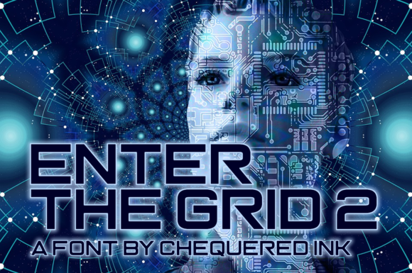 Print on Demand: Enter the Grid 2 Display Font By Chequered Ink - Image 1