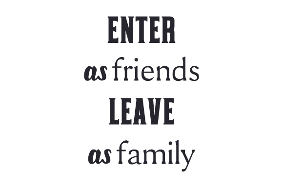 Download Free Enter As Friends Leave As Family Svg Cut File By Creative for Cricut Explore, Silhouette and other cutting machines.