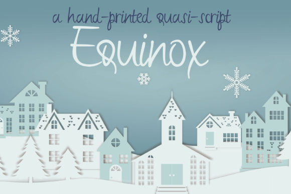 Print on Demand: Equinox Script & Handwritten Font By Illustration Ink