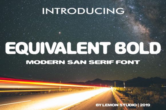 Print on Demand: Equvalent Bold Sans Serif Font By Lemon Studio