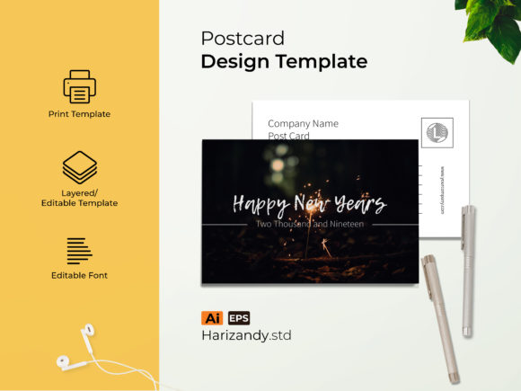 Event of the Year Post Card Graphic Print Templates By harizandy
