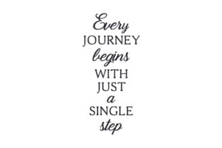 Every Journey Begins with Just a Single Step Craft Design By Creative Fabrica Crafts