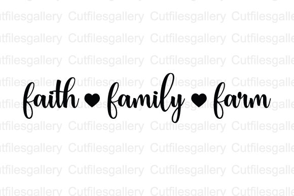 Download Free Faith Family Farm Svg Graphic By Cutfilesgallery Creative Fabrica for Cricut Explore, Silhouette and other cutting machines.