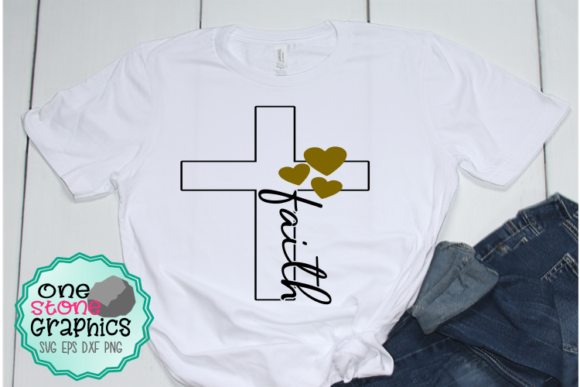 Faith Cross Svg Graphic Crafts By OneStoneGraphics