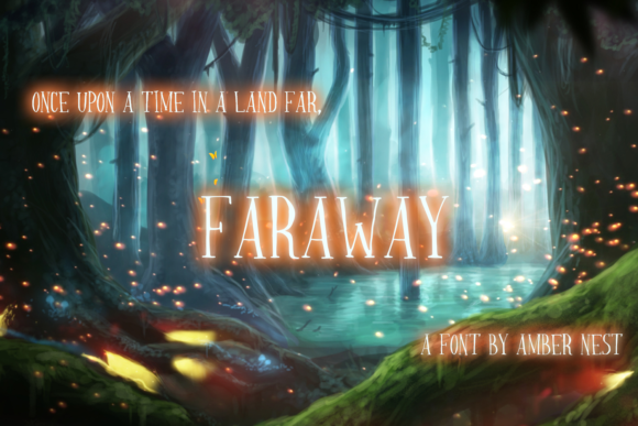 Print on Demand: Faraway Display Font By amber_nest