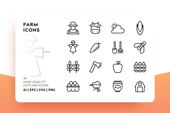 Farm Icon Pack Gráfico Iconos Por Goodware.Std