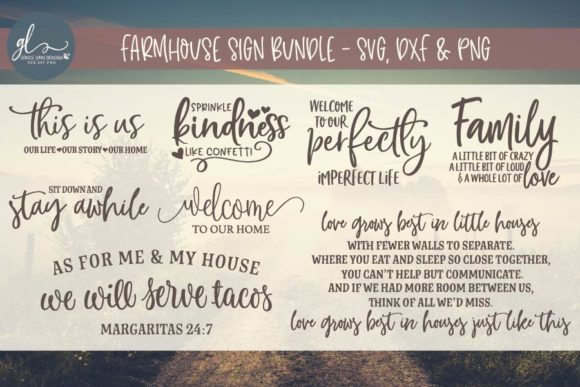 Farmhouse Sign Bundle Graphic Crafts By GraceLynnDesigns