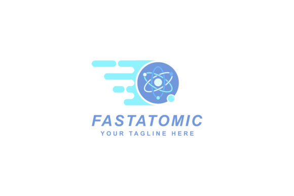 Download Free Fast Atomic Logo Design Grafico Por Sabavector Creative Fabrica for Cricut Explore, Silhouette and other cutting machines.