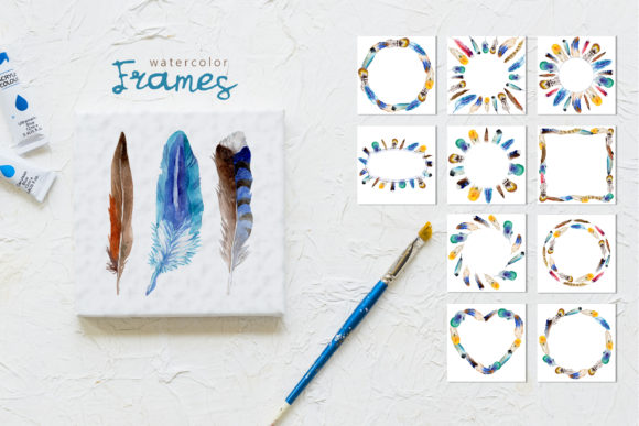 Print on Demand: Feather Watercolor Png Graphic Illustrations By MyStocks - Image 3