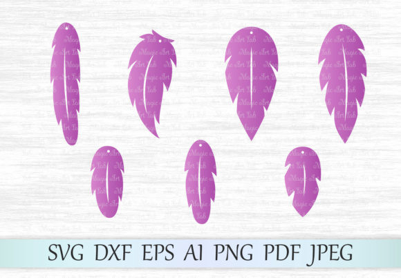 Download Free Feather Earrings Svg Graphic By Magicartlab Creative Fabrica for Cricut Explore, Silhouette and other cutting machines.