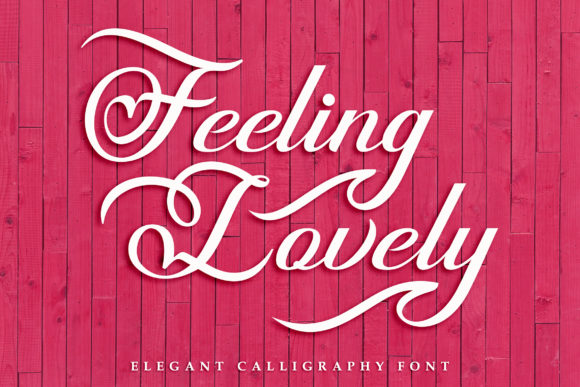 Print on Demand: Feeling Lovely Script & Handwritten Font By Subectype