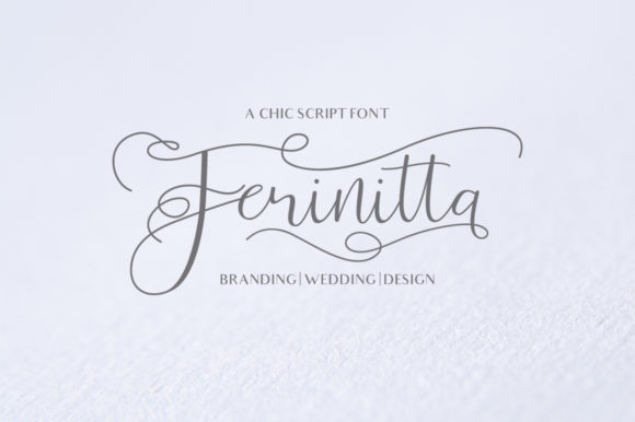 Print on Demand: Ferinitta Script & Handwritten Font By Ef Studio