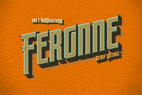 Print on Demand: Feronne Family Blackletter Font By Jvne77