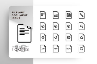 File and Document Icons Pack Graphic By Goodware.Std