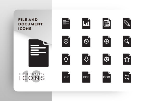 File and Document Icon Pack Graphic Icons By Goodware.Std - Image 1