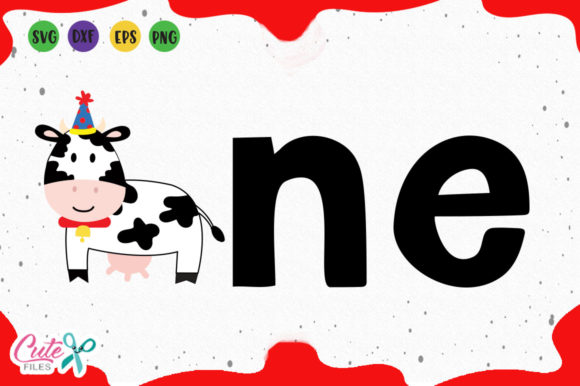 Download Free First Birthday Cow Svg Graphic By Cute Files Creative Fabrica SVG Cut Files